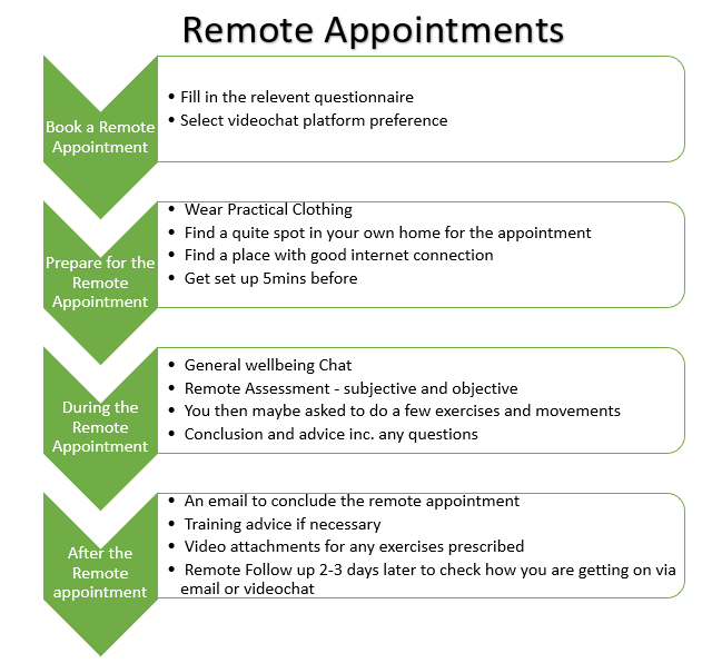 remote appointments